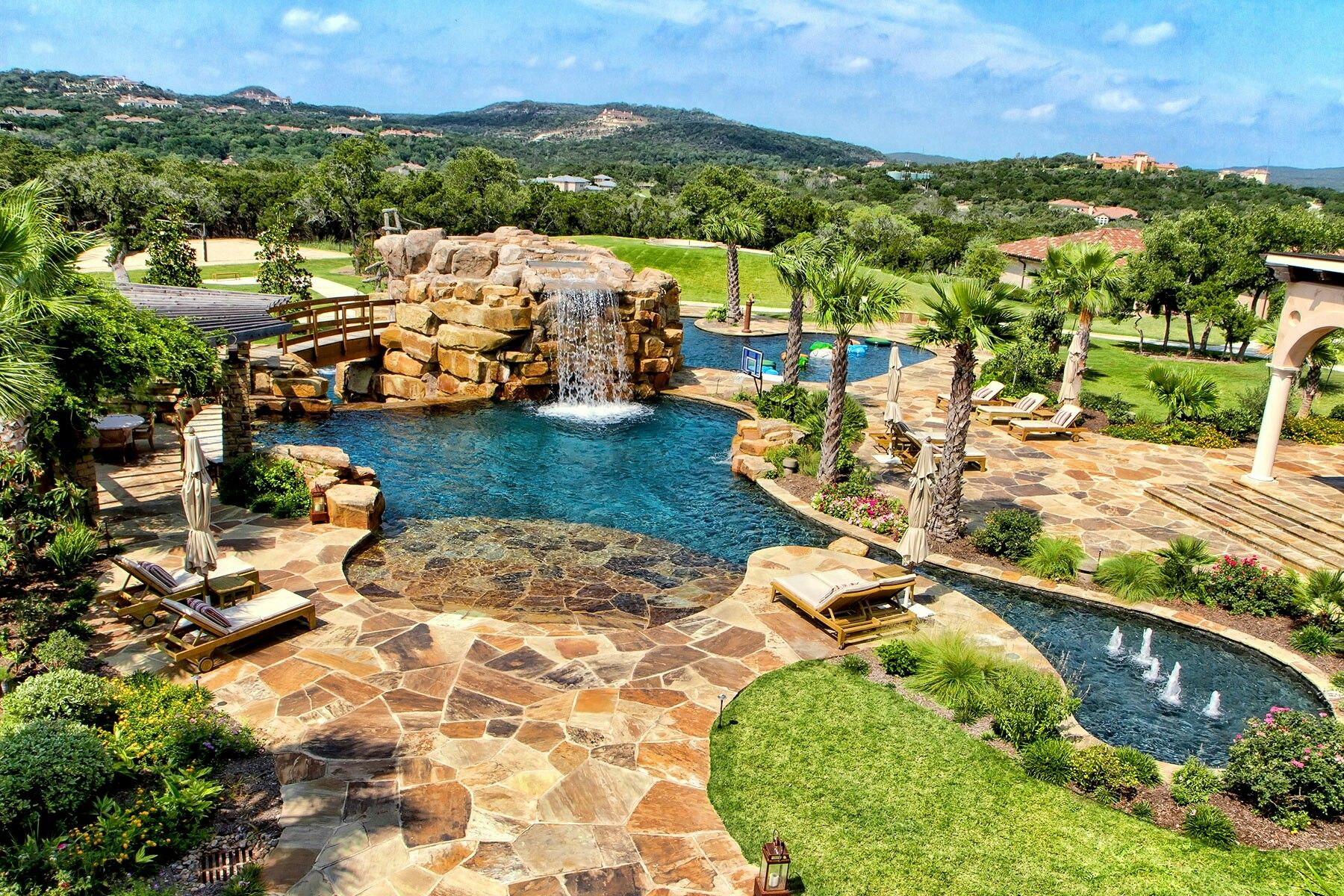 Pin By Tammy Parrott On Pools Swimming Pool Builder Luxury Swimming Pools Residential Pool