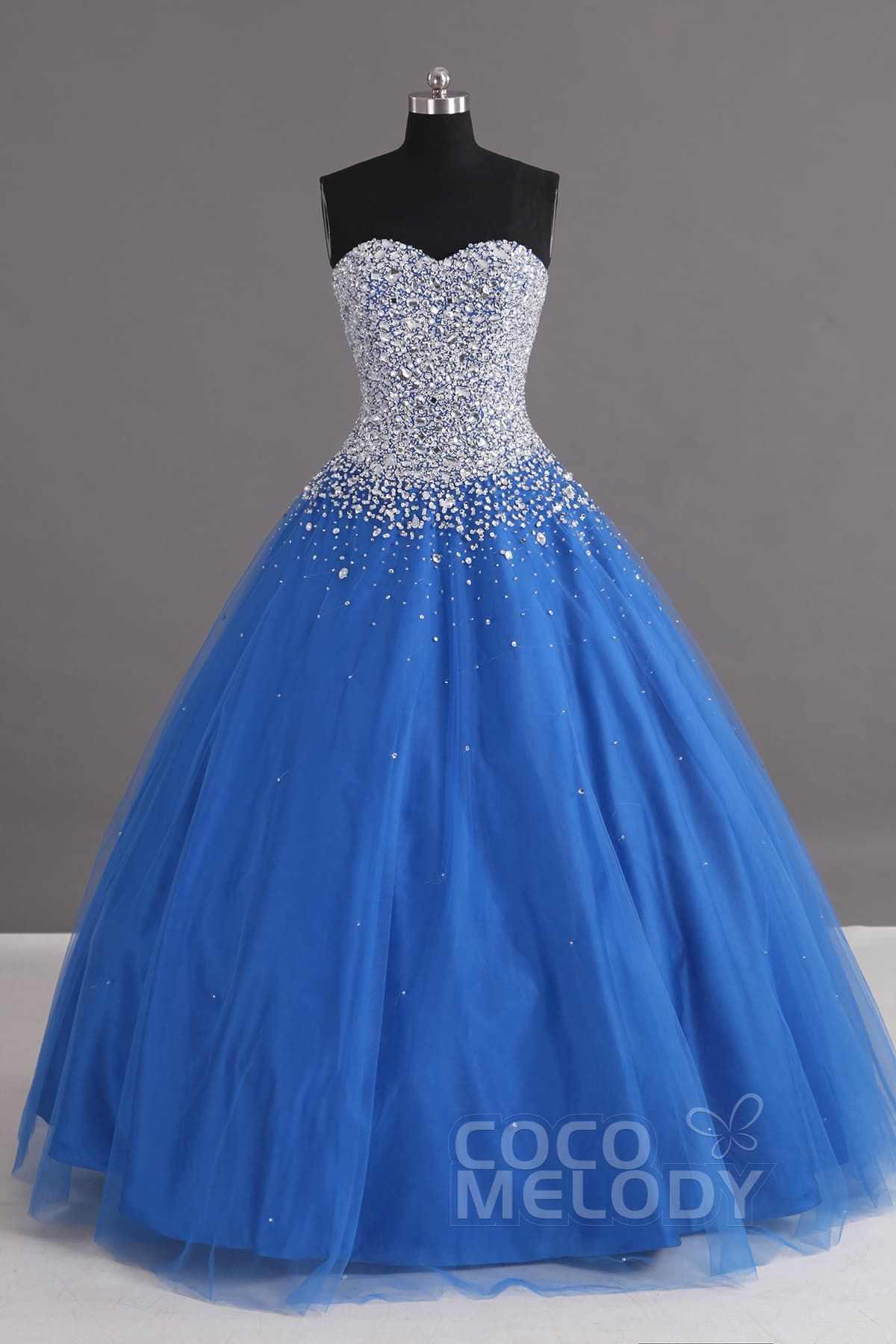 Charming+Ball+Gown+Sweetheart+Floor+Length+Tulle+Lace-up+Corset+Quinceanera+ Dress+with+Crystals+COLF1400F 501b416dc5d3