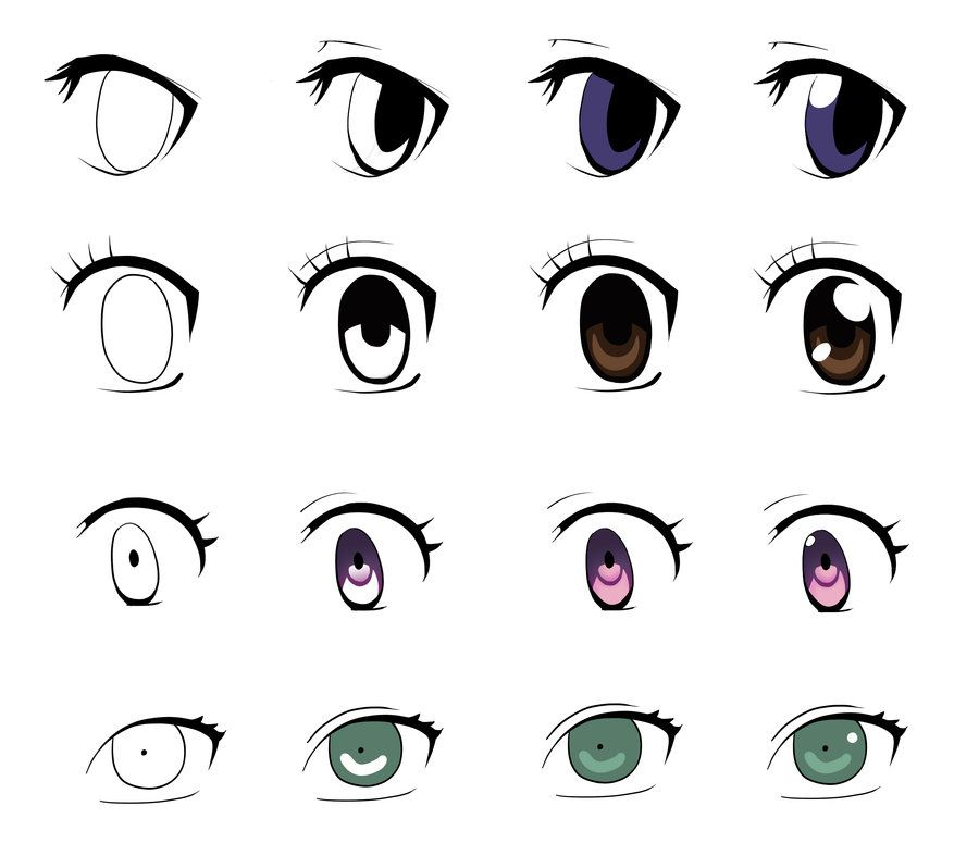 Anime eyes in 5 steps or less part 2 by jellylemons