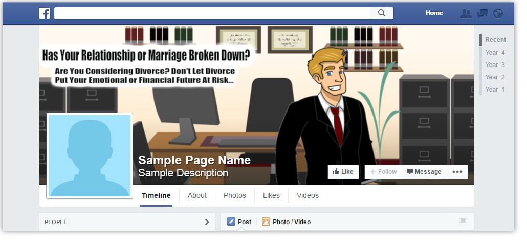 Divorce Lawyer Facebook Page Cover Design Browse Our