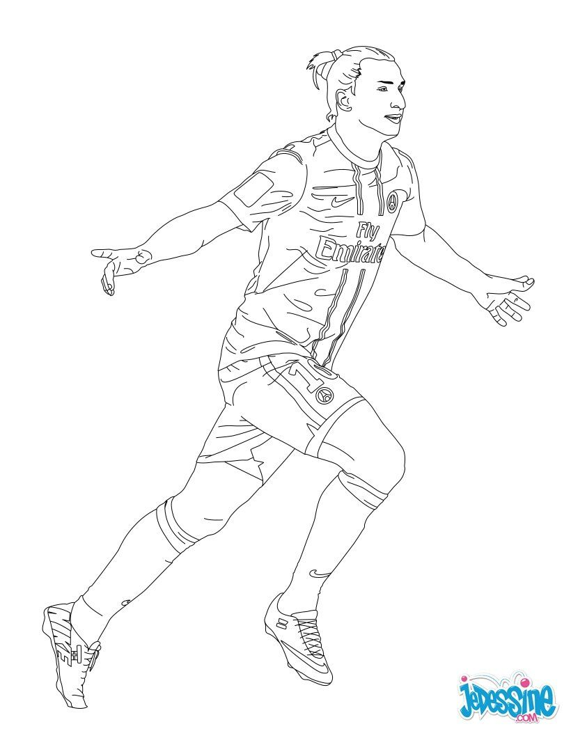Coloriage du joueur de foot Zlatan Ibrahimovik € imprimer gratuitement ou colorier en ligne sur