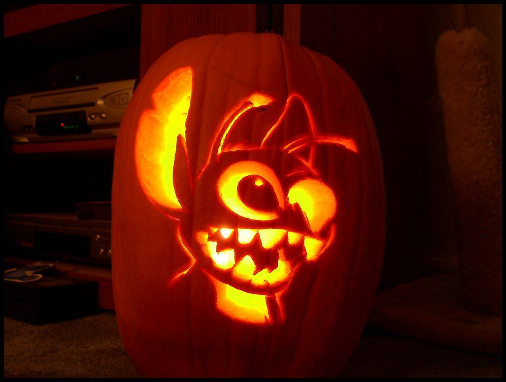lilo and stitch pumpkin carving patterns | Stitch Pumpkin Carving ...