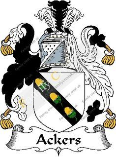 Image result for image of Acker coat of arms in color