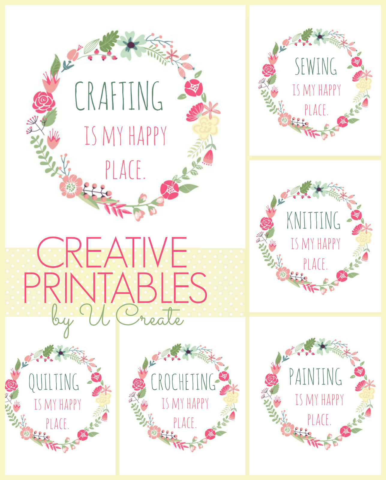 Free Printables Happy Place