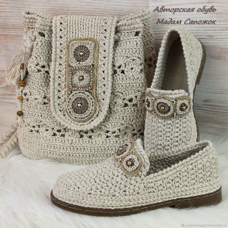 fc7986cbba97 Сумка и Туфли льняные с вышивкой женские (комплект) – купить в интернет- магазине на Ярмарке Мастеров с доставкой - FVNKHRU | Кулебаки