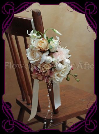 Vintage coloured silk flower pew decoration for hire in melbourne vintage coloured silk flower pew decoration for hire in melbourne mightylinksfo