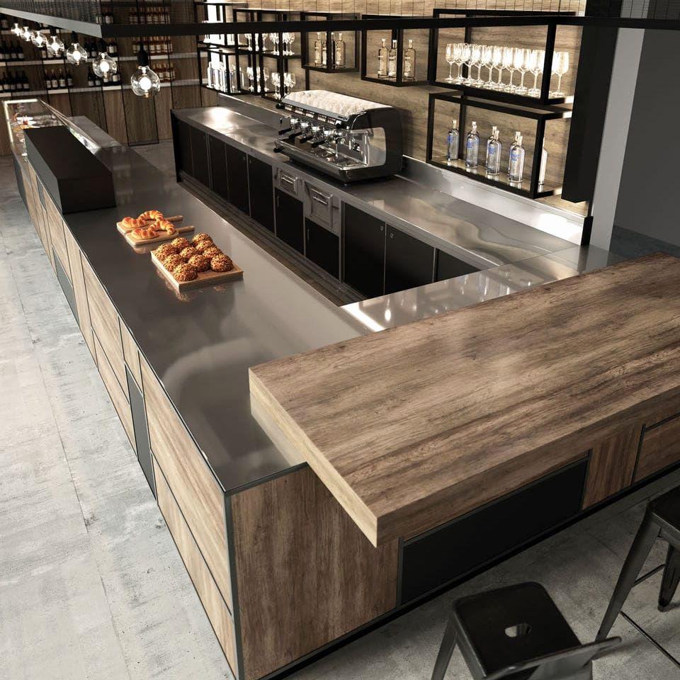 Bekannt Bar theke Gastronomie Gebraucht Bar theke Holz Cheap Full Size Bar UW15