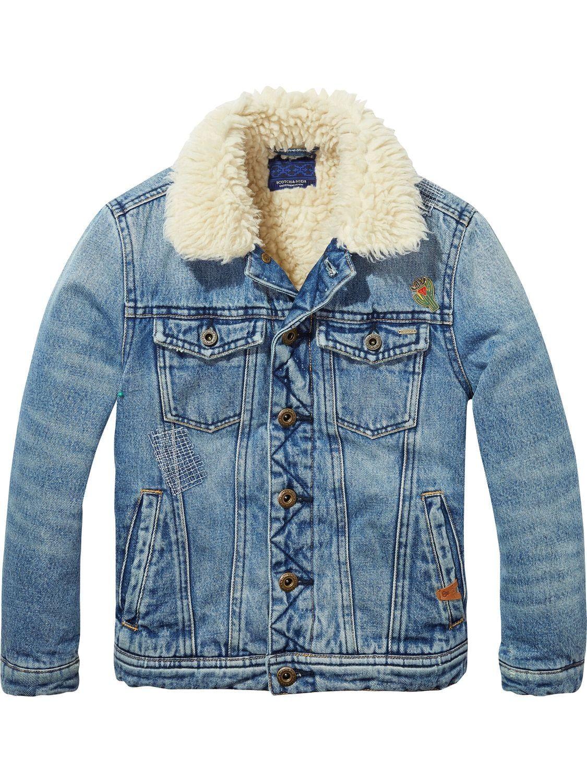 Teddy Lined Denim Jacket Lined Denim Jacket Couture Outfits Denim Jacket [ 1500 x 1125 Pixel ]
