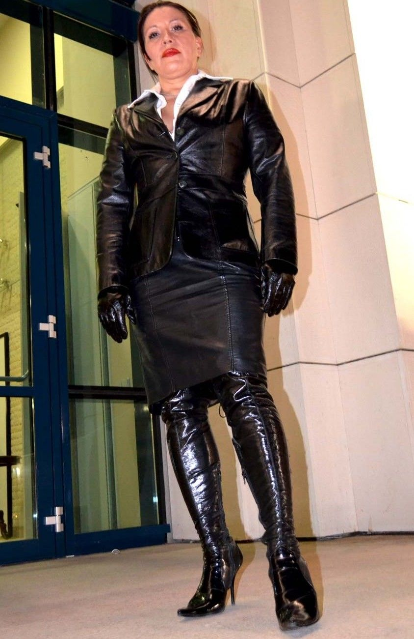 Information mature dominatrix leather boots happens