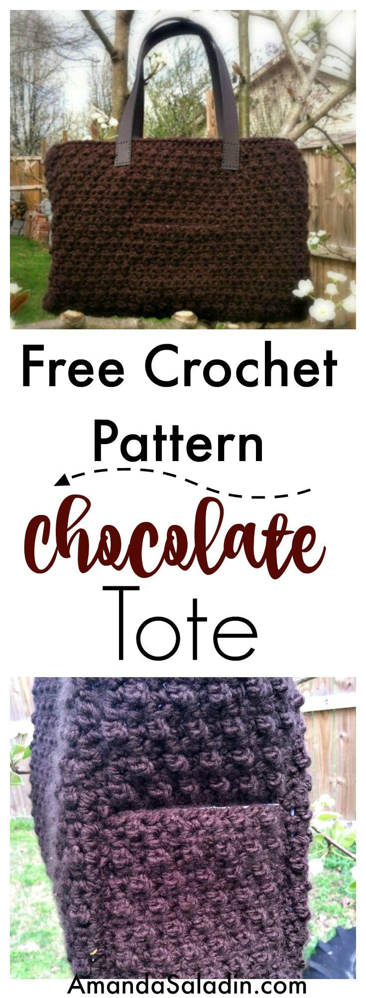 Chocolate Tote - Free Crochet Pattern | TEJIDOS crochet bolsos ...