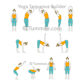 bear pose arms out yoga sequence yoga  yoga sequences