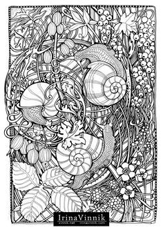 Manic Botanic Coloring Book By Irina Vinnik On Behance