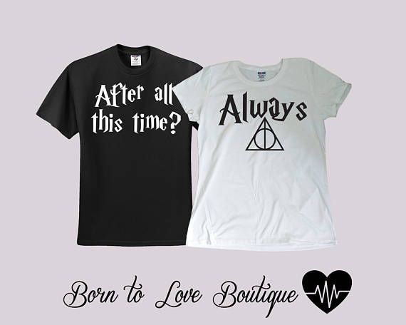 b92bf8ec4d Harry Potter Always Bride / Groom shirts Couple shirts | Shirt ideas ...