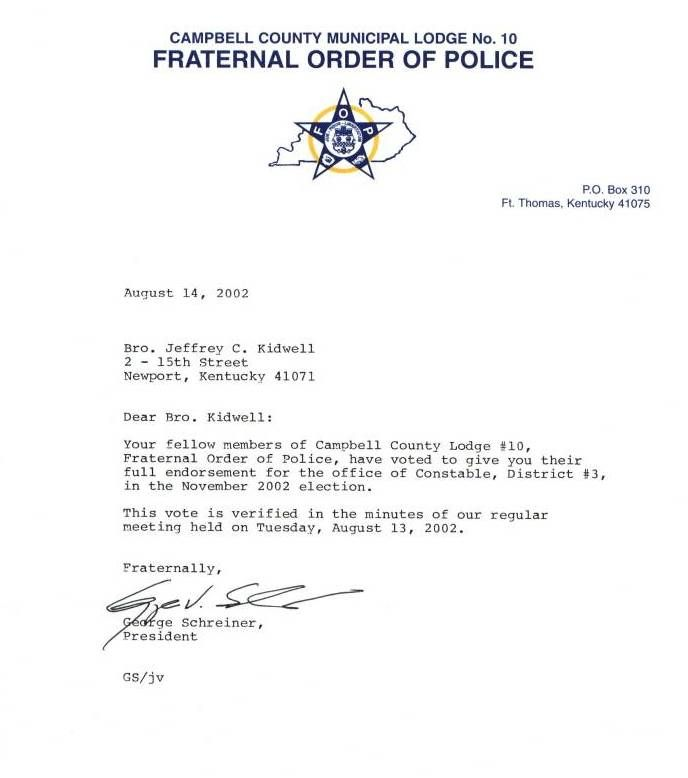 thank you letter police department Home Design Idea Pinterest - Endorsement Letters