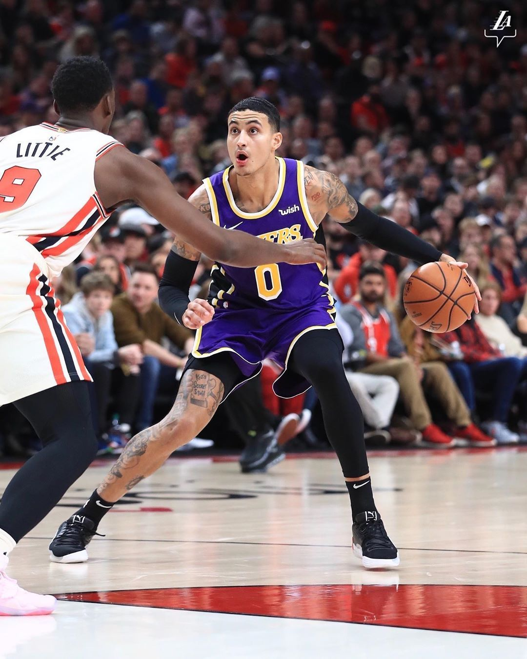 71 4k Likes 307 Comments Los Angeles Lakers Lakers On Instagram Kuz Is Up To 14 Points In The Half 0 Lake Kyle Kuzma Los Angeles Lakers Nba Fashion