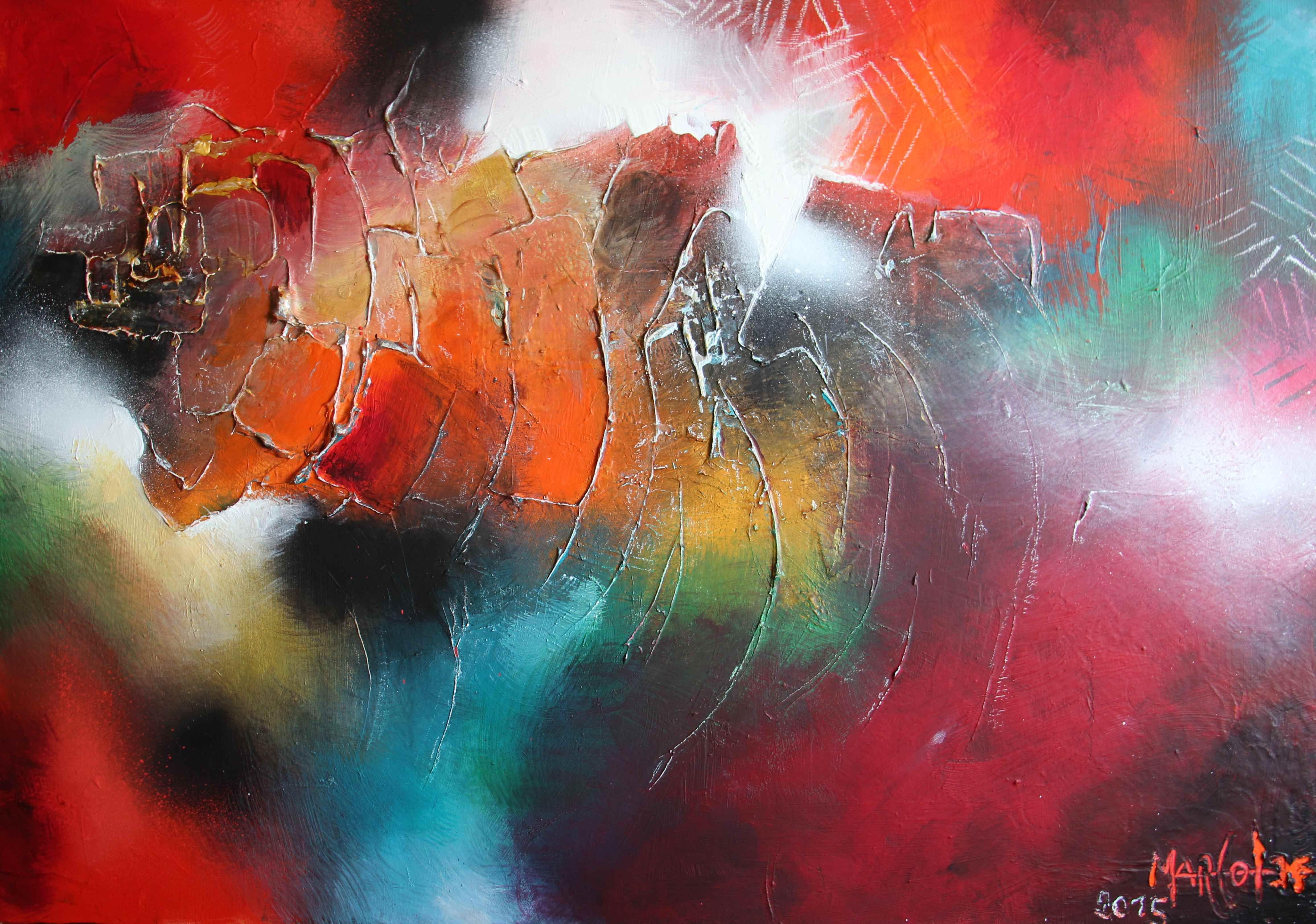"""A découvrir au 3ème Salon de Peinture Abstraite sur www.myrankart.com  """"Je Me Souviens"""", 92 X 65 Cm, Acrylique Sur Toile. by Marco Lef"""