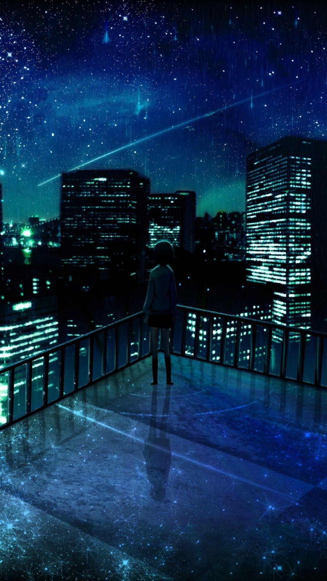 Lansekap Kota Di Malam Hari