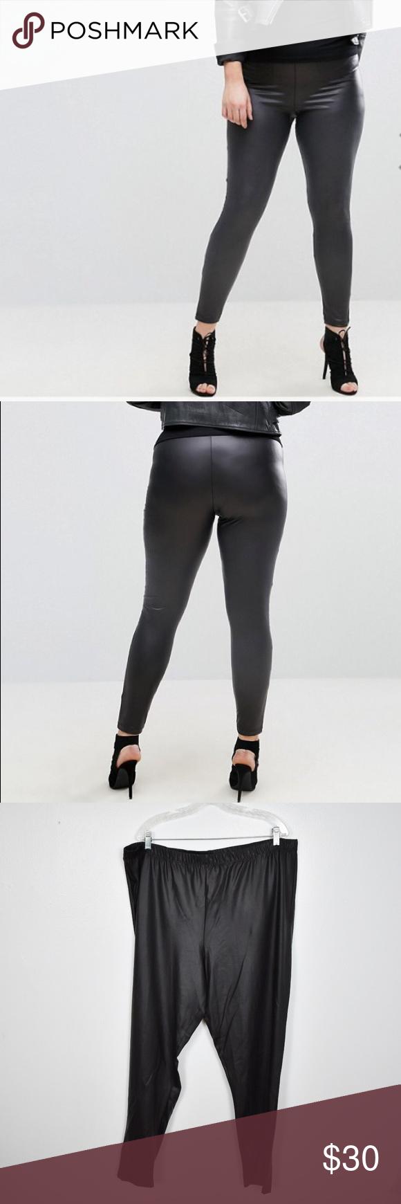 6e7de759d43490 ASOS Curve Leather Look Leggings NEW size 22 ASOS Curve Leather Look  Leggings NEW size 22
