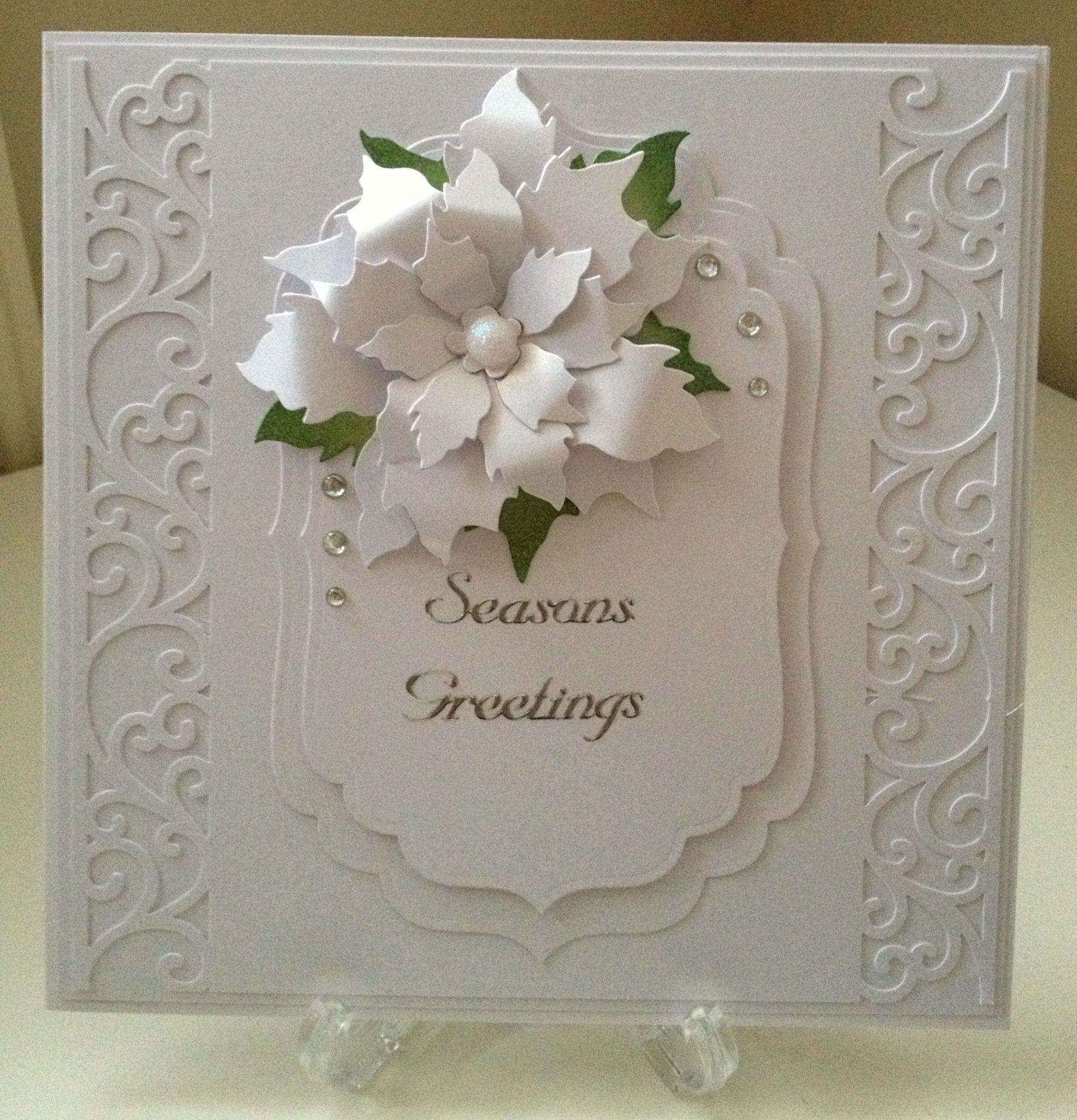Sophisticated christmas cards christmas poinsettia pinterest sophisticated christmas kristyandbryce Images