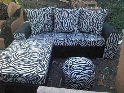 5 Seater Zebra Animal Print Design Sofa