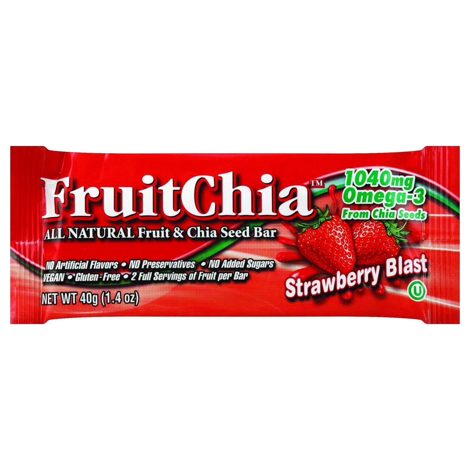 Fruit Chia Bar - Strawberry - 1.4 oz Bars - Case of 24
