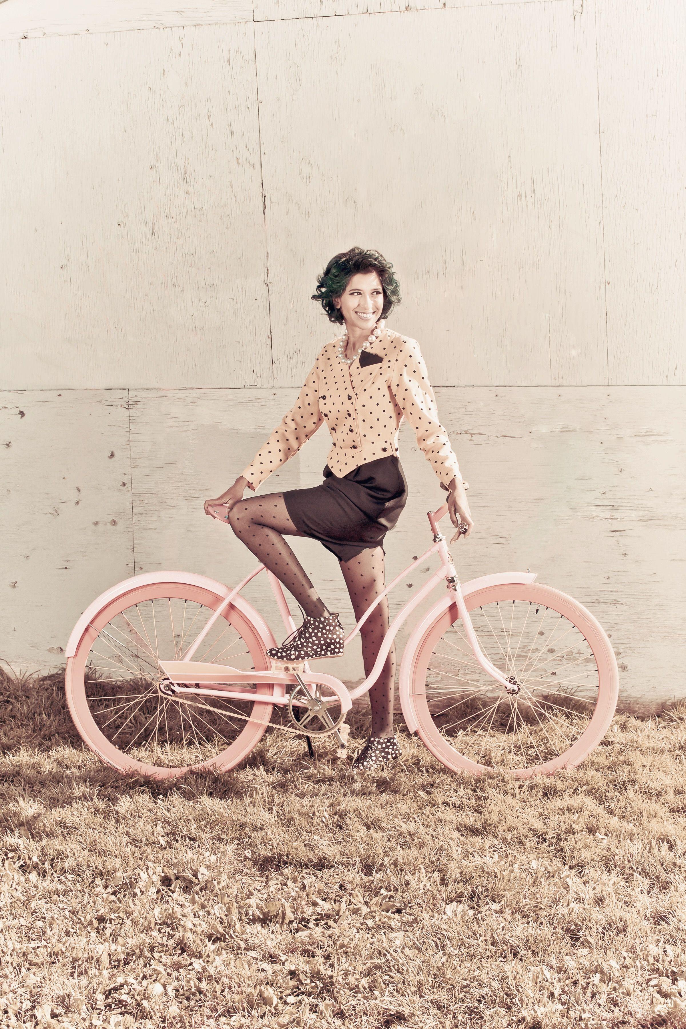 Ottawa Vintage Clothing Show Bicycle Girl Cycling Fashion Bike Style