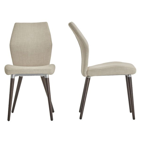 Bloch Linen Upholstered Side Chair Leather Dining Chairs