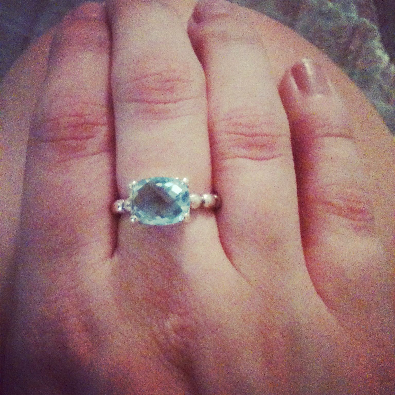 My new Blue Topaz ring from Pandora. | Dress Me Up | Pinterest ...