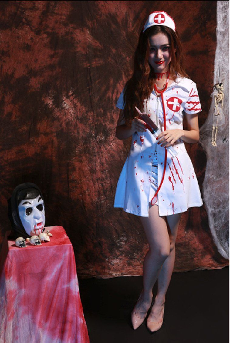 Killer Nurse Halloween Makeup