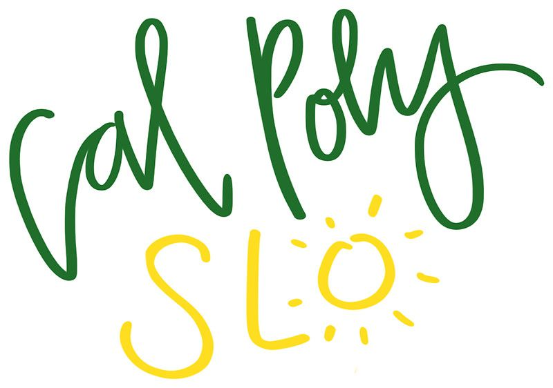 Cal Poly Slo Stickers College Stickers Sticker Design Poly