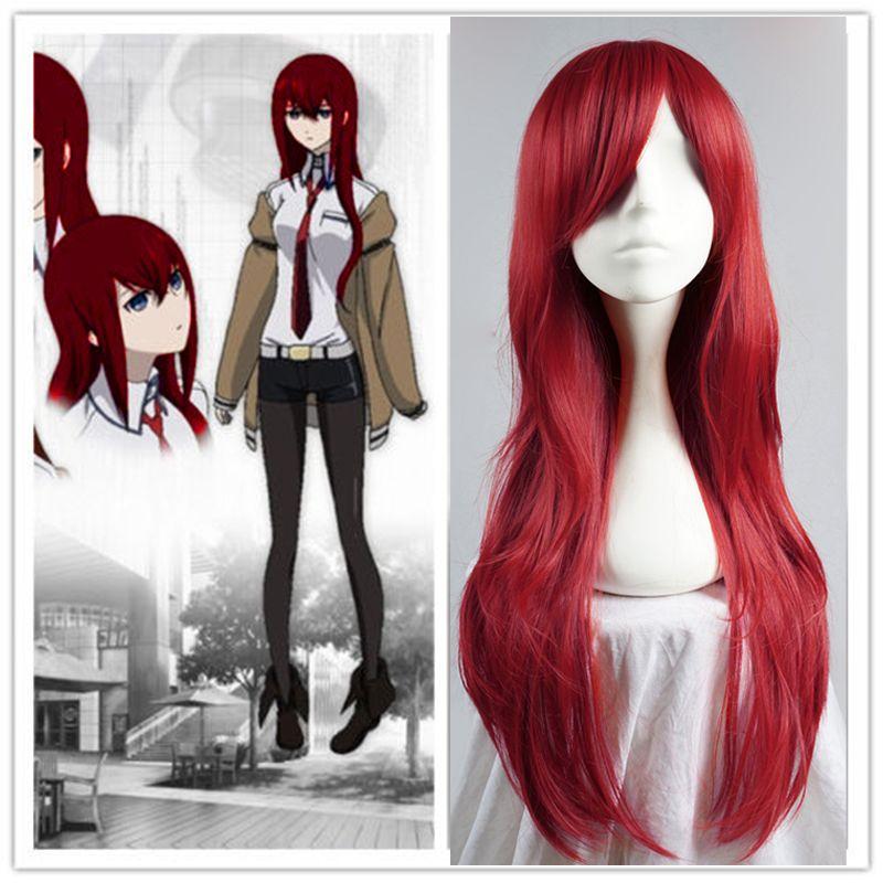 70cm long wavy wine red heat resistant fashion women anime