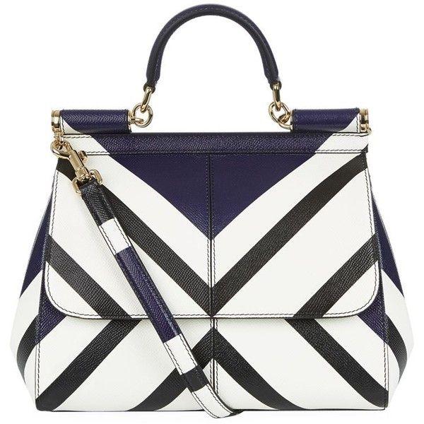 69b3dd3c9f Dolce   Gabbana Medium Sicily Geo Top Handle Bag ( 1