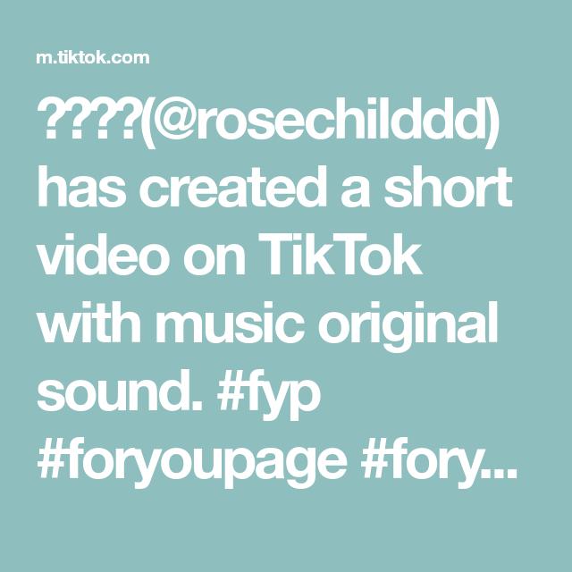 Rosechilddd Has Created A Short Video On Tiktok With Music Original Sound Fyp Foryoupage Foryou Hanako Hanako Rap City The Originals Relatable