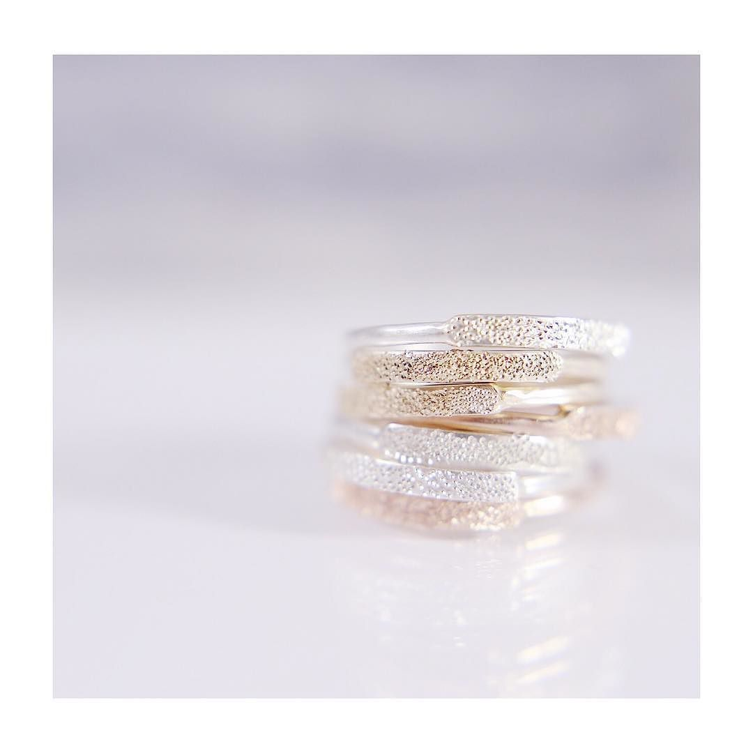 NARROW DIAMOND DUSTED RING || add a little  with one or stack 'em up for a lot of  #christinakoberdesigns #futureheirlooms