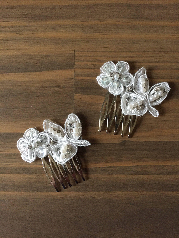 2dfb11408f061 Decorative comb set,Wedding comb set,Bridal comb set,Comb, Flower ...