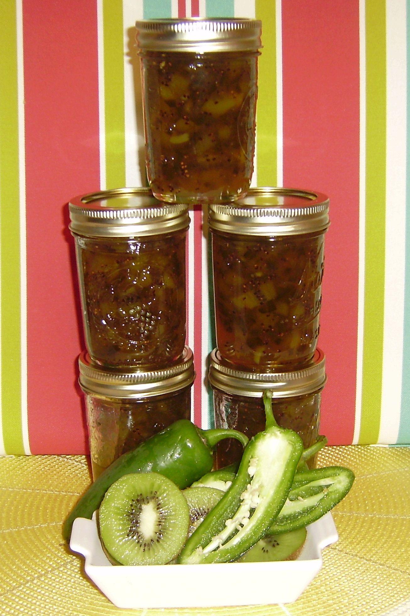 JalapenoKiwi Jam Kiwi jam, Canning, Canned