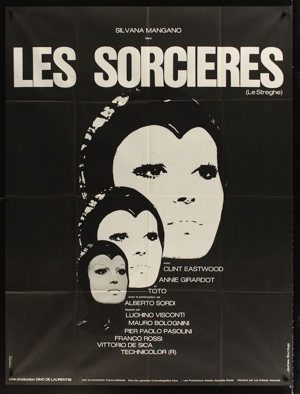 The Witches (le streghe) French movie poster  Clint Eastwood
