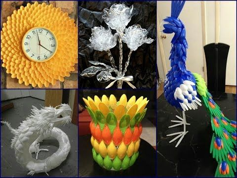plastic spoon craft ideas recycled home decor youtube idee