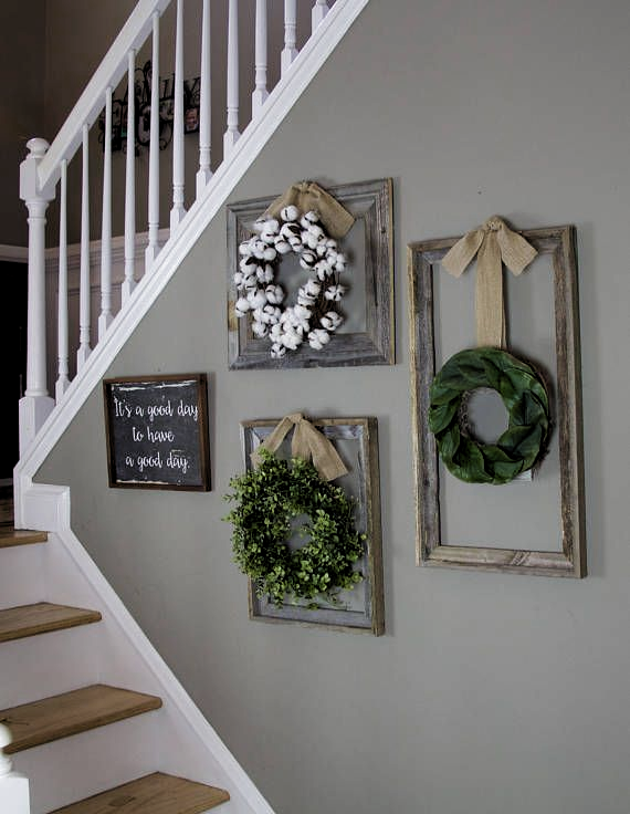Photo of Farmhouse wreath, Gallery Wall Decor, Rustic Decor, Fixer Upper Decor, Wreath in…