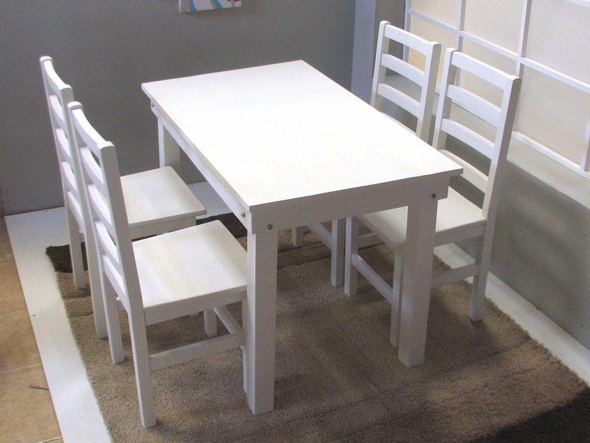 mesa cocina comedor x pino pintada