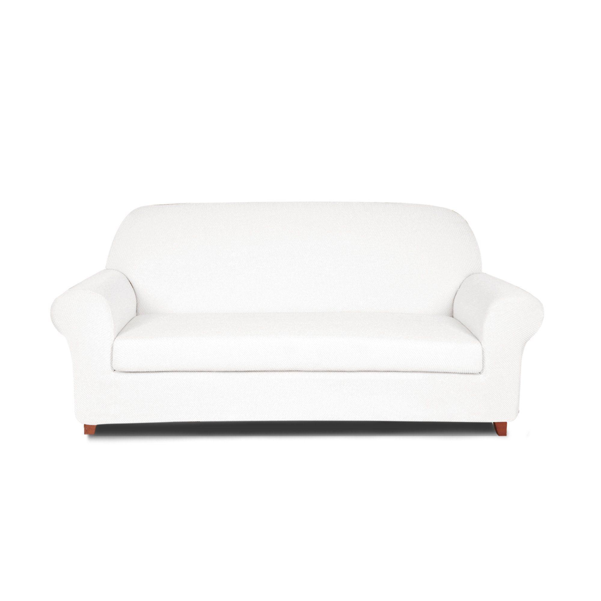 Dyfun 2piece Jacquard Spandex Stretch Living Room Sofa Slipcovers Loveseat White You Can Get More Details By Loveseat Slipcovers Love Seat Slipcovered Sofa