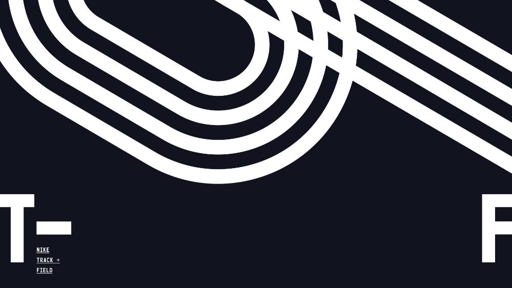 Track Logos Track And Field Sports Graphic Design Presentation Slides Design