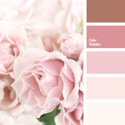 Monochrome range of pastel shades of pink. This palette is perfect for wedding decor: decoration of a premises with natural flowers, festive table decoration. This color scheme can be used in classic bedroom or bathroom interior.