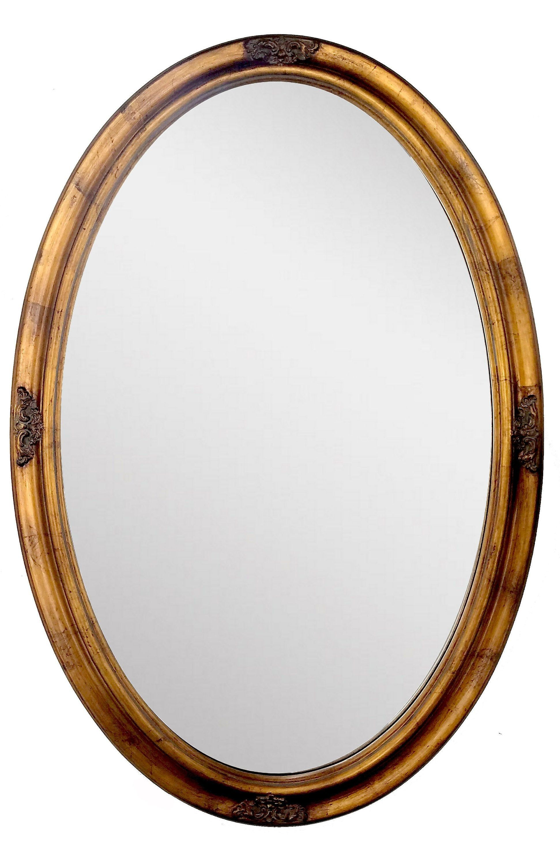 Vintage Oval Mirror Antique Gold Leaf Accent Wall Hanging Mirror 21 X 31 Inch Hanging Wall Mirror Oval Mirror Hanging Mirror