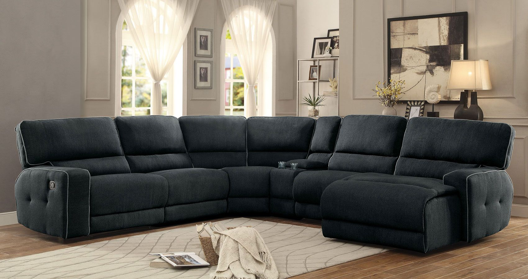 Keamey Modular Reclining Sectional W Chaise Homelegance In Sectionals With A Co Furniture Design Living Room Reclining Sectional Sectional Sofa With Recliner #pasadena #tan #living #room #sectional
