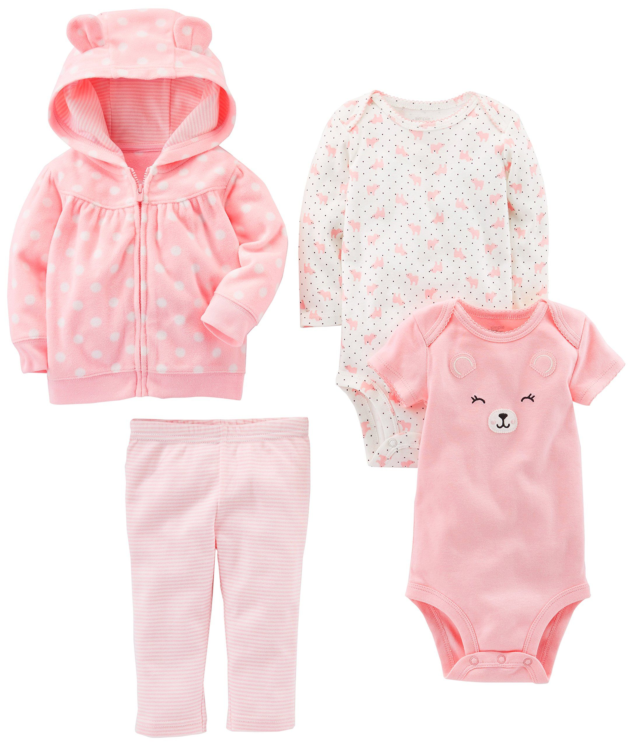 Pant Simple Joys by Carters Baby Girls 4-Piece Fleece Jacket and Bodysuit Set