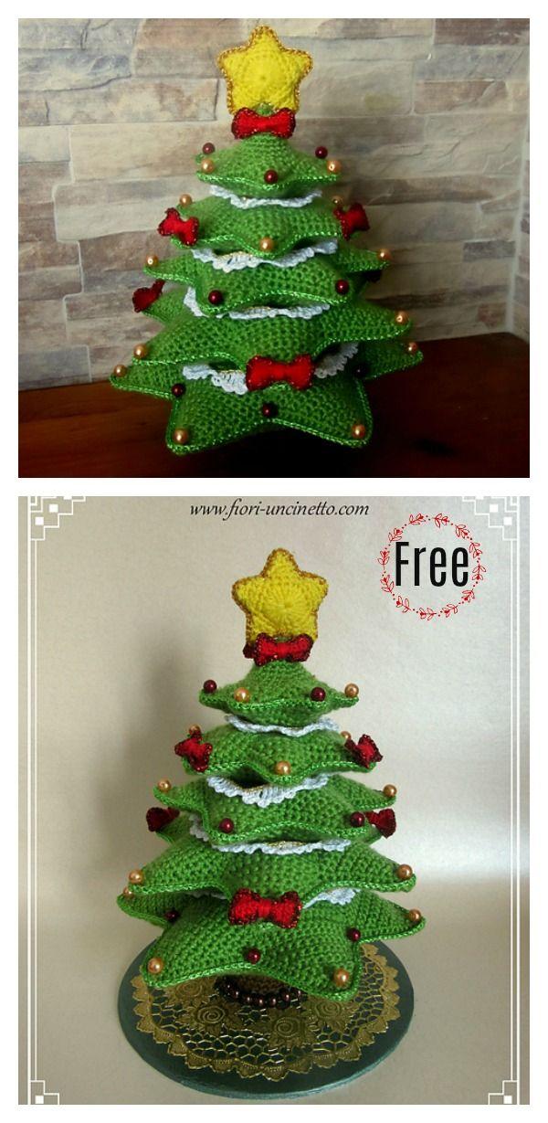 Diy Crocheted Christmas Tree With Free Pattern Haken Pinterest