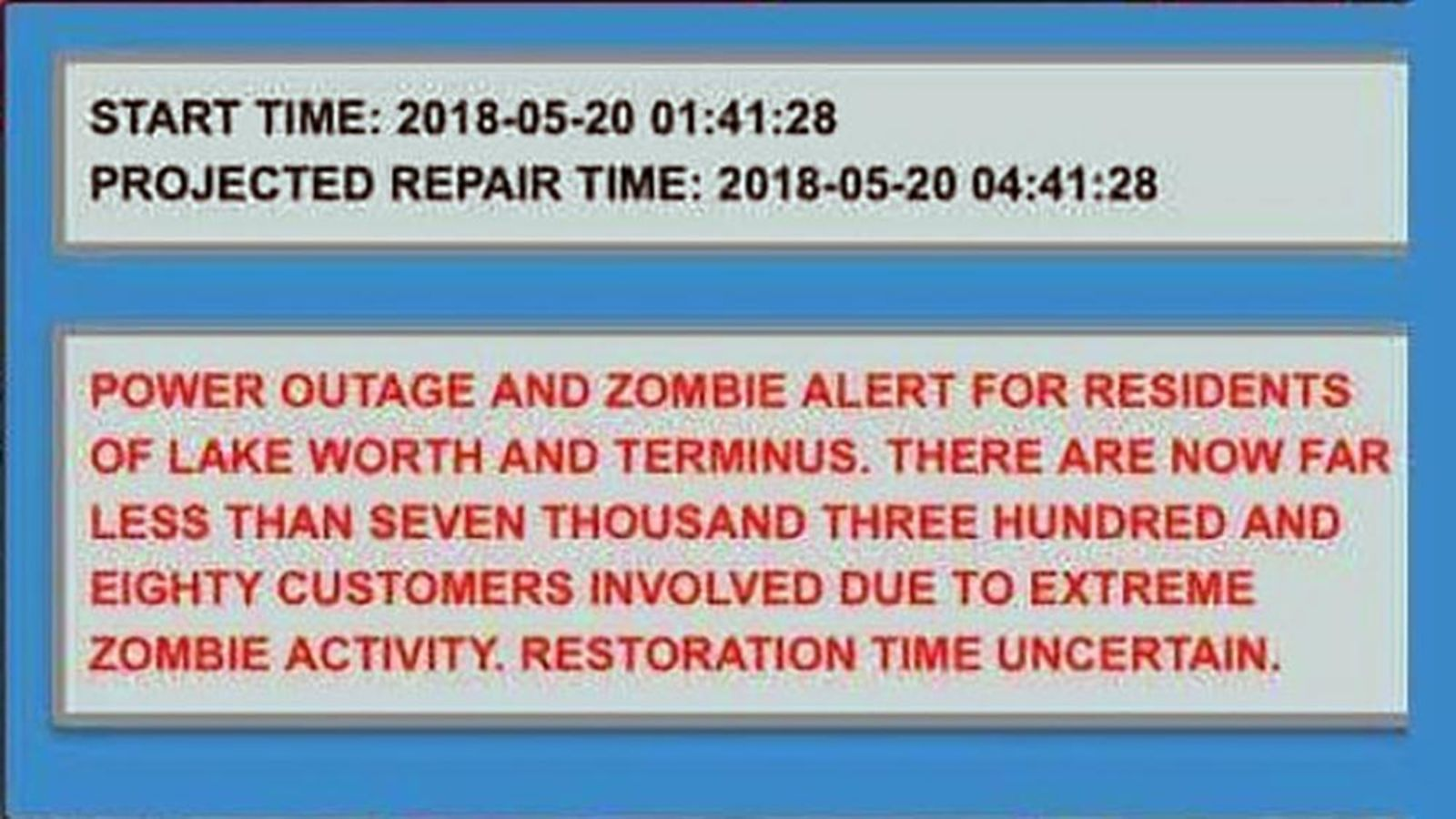 Florida City Has Been Accidentally Sending Out Zombie Alert Messages Since Hurricane Irma Lake Worth Florida City Zombie
