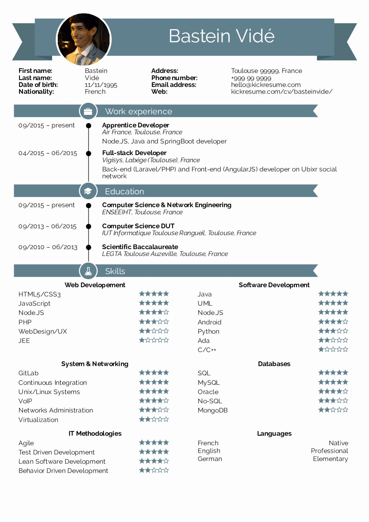 25 Best Computer Science Resume in 2020 Full stack