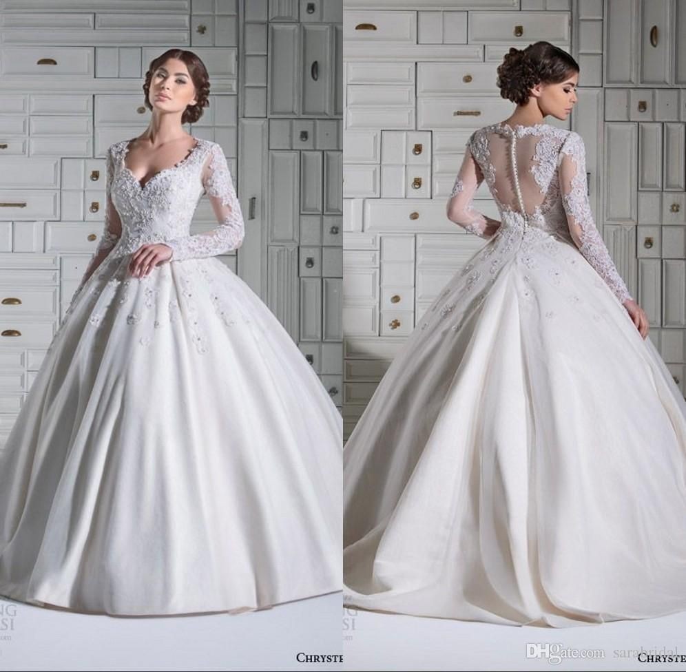 Modest Ball Gown Wedding Dresses Middle East Country Vintage Wedding ...